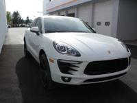 2017 Porsche Macan S finished in Carrera White over