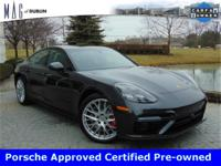 This Gorgeous Panamera is Porsche Approved Certified.