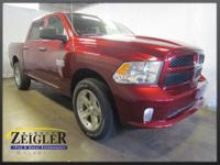 2017 Ram 1500 Red Pearlcoat 4WD 8-Speed Automatic 3.6L