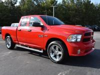 CARFAX One-Owner. Clean CARFAX. Bright Red 2017 Ram