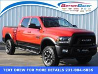 BAD TO THE BONE** Flame Red 2017 Ram 2500 POWER WAGON