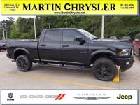 CARFAX One-Owner. Black 2017 Ram 2500 Laramie 4WD