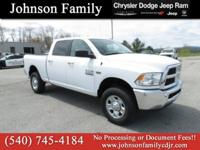 2017 Ram 2500, Factory Warranty, One Owner, 4WD,