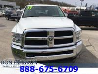 Clean CARFAX. Bright White Clearcoat 2017 Ram 2500 SLT