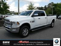 This 2017 Ram 3500 Laramie in Pearl White features: 4x4