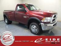 This 2017 Ram 3500 Tradesman is Delmonico Red Pearlcoat