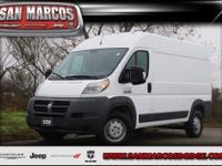Options:  2017 Ram Promaster Cargo Van|Bright White