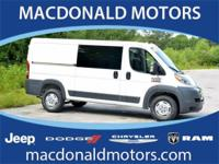 Bright White Clearcoat 2017 Ram ProMaster 1500 Low Roof