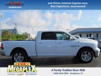 This 2017 Ram 1500 in White is well equipped with: