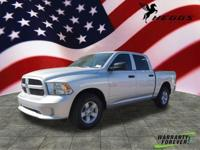 Silver 2017 Ram 1500 Express RWD 8-Speed Automatic 3.6L