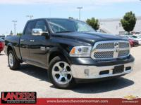 CARFAX One-Owner. Black Clearcoat 2017 Ram 1500 Laramie