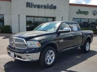 One-Owner Black 2017 Ram 1500 Laramie with a EcoDiesel