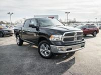 Brilliant Black Crystal Pearlcoat 2017 Ram 1500 SLT 4WD