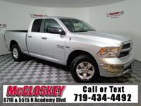 Powerful 2017 Ram 1500 SLT Quad Cab offering UConnect,
