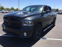 This 2017 RAM 1500 Sport features a remote starter,