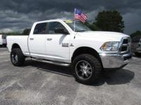 White 2017 Ram 2500 SLT 4WD 6-Speed Automatic Cummins
