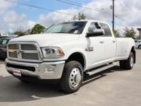 Turn heads in this LUXURIOUS bright white 2017 Ram 3500
