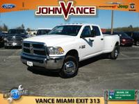 Tradesman trim, Bright White Clearcoat exterior and