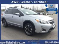 This Subaru is equipped with heated leather seats,