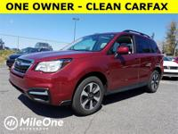 Clean CARFAX. Venetian Red 2017 Subaru Forester 2.5i