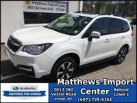 Certified. Crystal White Pearl 2017 Subaru Forester