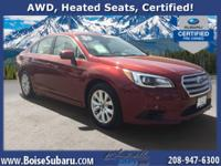 This Subaru is equipped with heated power seats,