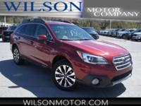 CARFAX One-Owner. Red 2017 Subaru Outback 2.5i Limited