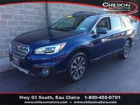 Certified. 2017 Subaru Outback 2.5i Limited Lapis Blue