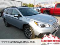 This 2017 Subaru Outback  has a 2.5 liter 4 Cylinder