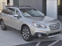 Clean CARFAX. White 2017 Subaru Outback 2.5i Limited 4D