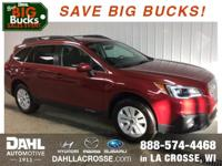 Recent Arrival! New Price! 2017 Subaru Outback 2.5i
