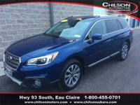 Certified. 2017 Subaru Outback 3.6R Touring Lapis Blue