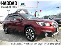 Subaru Outback 3.6R 2017 Red CARFAX One-Owner. Clean