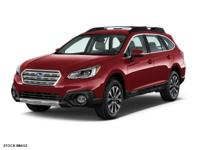 Clean CARFAX. Red 2017 Subaru Outback 3.6R Limited AWD