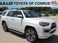 White 2017 Toyota 4Runner Limited  Let the team at