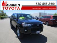 LOW MILES, 1 OWNER, 4WD!!!  This 2017 Toyota 4Runner
