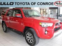 Red 2017 Toyota 4Runner TRD Off-Road PremiumLet the