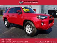 CARFAX One-Owner. Clean CARFAX. Red 2017 Toyota 4Runner