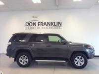 Clean CARFAX. Gray 2017 Toyota 4Runner SR5 4WD 5-Speed
