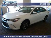 New Price! Super White 2017 Toyota Camry SE FWD 6-Speed