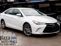 Certified. 2017 Toyota Camry SE Super White CARFAX