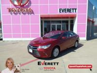 2017 Toyota Camry LE Ruby Flare Pearl, Bluetooth,