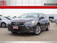 2017 Toyota Camry LE 33/24 Highway/City MPG  Options: