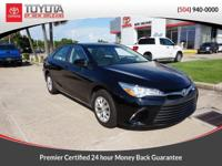 CARFAX One-Owner. Clean CARFAX. Black 2017 Toyota Camry