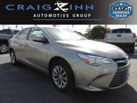 CarFax 1-Owner, This 2017 Toyota Camry LE will sell