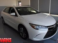 CARFAX One-Owner. Clean CARFAX. WHITE 2017 Toyota Camry