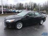 Midnight Black Metallic 2017 Toyota Camry LE FWD