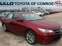 Red 2017 Toyota Camry SE 33/24 Highway/City MPGLet the