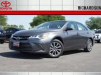 2017 Toyota Camry XLE 30/21 Highway/City MPGAwards:  *