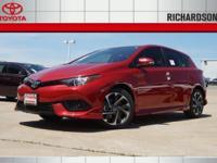 2017 Toyota Corolla iM 36/28 Highway/City MPG  Options: